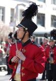 Jugador de flautín, desfile del día del St. Patrick de Nueva York Foto de archivo