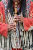 Jugador de flauta Foto de archivo libre de regalías