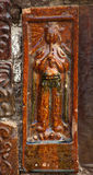 Jugador de flauta antiguo BrickChina de cerámica Foto de archivo