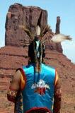 Jugador de flauta ceremonial Imagenes de archivo