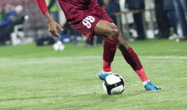 Jugador de fútbol Imagen de archivo libre de regalías