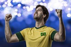 Jugador de fútbol brasileño Foto de archivo libre de regalías