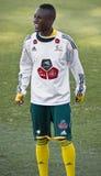 Jugador de fútbol de Bafana Bafana Fotos de archivo libres de regalías