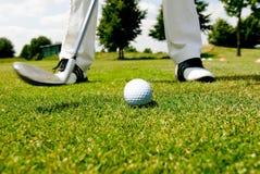 Jugador de golf Imagen de archivo libre de regalías