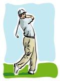 Jugador de golf Imagenes de archivo