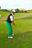 Jugador de golf, Andalucía, España Imagen de archivo libre de regalías