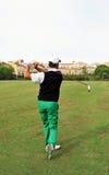 Jugador de golf en la camiseta, Andalucía, España Fotografía de archivo