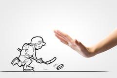 Jugador de hockey Fotos de archivo