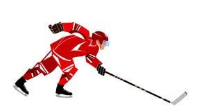 Jugador de hockey almacen de metraje de vídeo