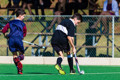 Jugador de hockey Clifton Schools Playing Astro foto de archivo