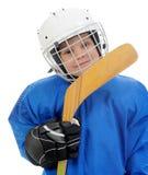 Jugador de hockey de Little Boy Imagen de archivo