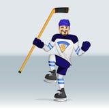 Jugador de hockey del hockey sobre hielo de Finlandia Fotografía de archivo libre de regalías