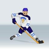Jugador de hockey del hockey sobre hielo de Finlandia Foto de archivo