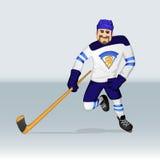 Jugador de hockey del hockey sobre hielo de Finlandia Imagen de archivo libre de regalías