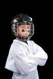 Jugador de hockey del niño imagen de archivo libre de regalías