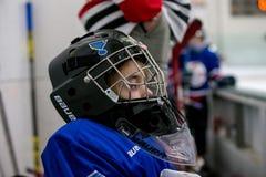 Jugador de hockey joven Fotografía de archivo libre de regalías