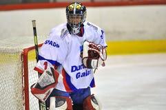 Jugador de hockey no identificado Foto de archivo libre de regalías