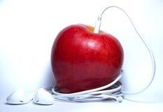 jugador de la manzana Foto de archivo libre de regalías