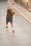 Jugador de la pelota vasca Foto de archivo libre de regalías