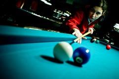 Jugador de la piscina Fotografía de archivo libre de regalías
