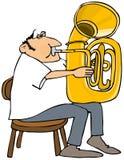 Jugador de la tuba Fotos de archivo libres de regalías