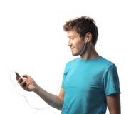Jugador de música Foto de archivo