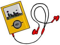 Jugador de música Imagen de archivo libre de regalías
