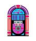 Jugador de música de la máquina tocadiscos ilustración del vector