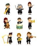 Jugador de música de la orquesta ilustración del vector
