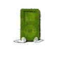 Jugador de música verde Imágenes de archivo libres de regalías