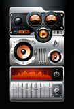 Jugador de MP3 anaranjado del análogo Stock de ilustración