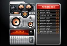 Jugador de MP3 anaranjado del análogo Ilustración del Vector