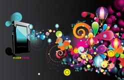 Jugador de mp3 del vector Imagen de archivo libre de regalías