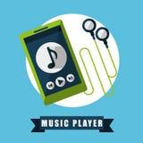 Jugador de música Imagen de archivo