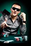 Jugador de póker imágenes de archivo libres de regalías