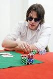 Jugador de póker Fotos de archivo libres de regalías