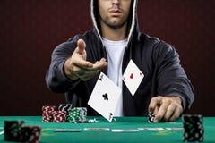 Jugador de póker Fotografía de archivo libre de regalías