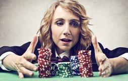 Jugador de póker Foto de archivo libre de regalías