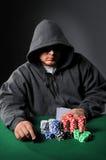 Jugador de póker con las gafas de sol fotos de archivo libres de regalías