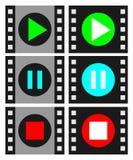 Jugador de película Imágenes de archivo libres de regalías
