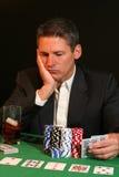 Jugador de póker Imagenes de archivo