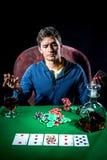 Jugador de póker Fotos de archivo