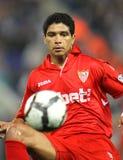 Jugador de Renato Dirnei Sevilla FC Foto de archivo libre de regalías