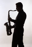 Jugador de saxofón Fotos de archivo libres de regalías