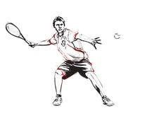 Jugador de tenis stock de ilustración
