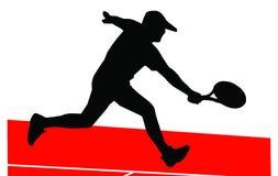 Jugador de tenis ilustración del vector