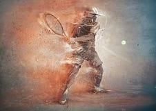 Jugador de tenis abstracto Imagenes de archivo