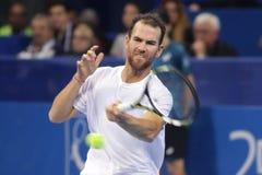 Jugador de tenis Adrian Mannarino Imagen de archivo libre de regalías