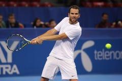 Jugador de tenis Adrian Mannarino Fotos de archivo libres de regalías