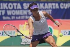 Jugador de tenis Beatrice Gumulya de Indonesia Foto de archivo libre de regalías